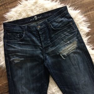 [7 for all Mankind] Distressed Men's Jeans